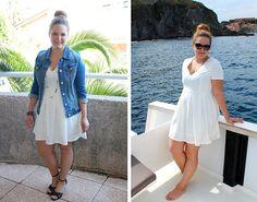 Promod Jacket, Asos White Dress, Chanel Sunnies