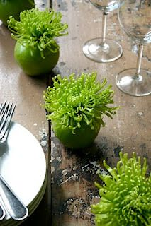 Apple Bomb's - gorgeous centerpiece on any table - Quick, Inexpensive, and Fresh!