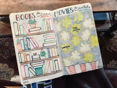 Books to Read and Movies to Watch #Bujo #Bulletjournaling #Movies #Books
