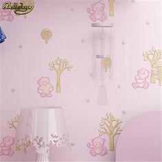beibehang Fine pressure three - dimensional 3d non - woven wallpaper cartoon bear warm bedroom full of children 's room  #Affiliate