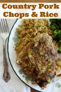 Country Pork Chops and Rice recipe is home cooking at its best. It's all baked in one dish in the oven. Affordable and scrumptious and a family favorite!