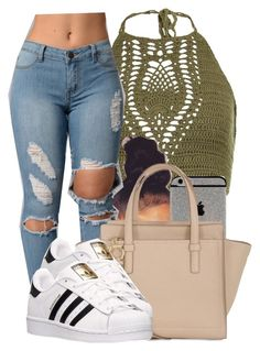 """""""6/25/16"""" by yasnikki ❤ liked on Polyvore featuring New Look, Salvatore Ferragamo and adidas"""