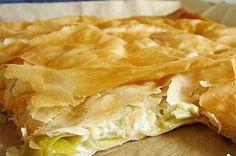 Leek and Feta Cheese Börek - ÖZ Yufka