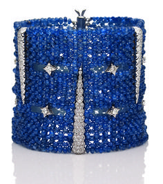 Best Diamond Bracelets : Sapphire and diamond cuff bracelet Diamond Bracelets, Bangle Bracelets, Blue Bracelets, Bangles, I Love Jewelry, Fine Jewelry, Jewelry Design, Bling Bling, Do It Yourself Jewelry