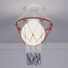 #Basketball inspired DIY lamp