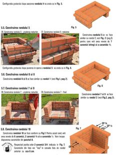 Cum se construieste un gratar din caramida? Bbq Grill Diy, Grilling, Outdoor Barbeque, Brick Construction, Firewood, Crafts, House, Garden, Photos
