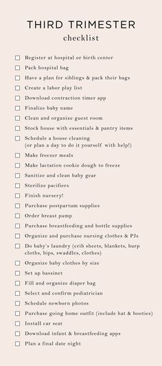 Everything On My 3rd Trimester To-Do List | The Mama Notes