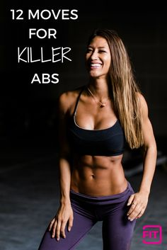 12 Moves for KILLER Abs with Karina Elle! Get those shredded, washboard abs in no time with these calorie-torching moves.  Fitness Workouts, Killer Ab Workouts, Great Ab Workouts, Effective Ab Workouts, Cardio Workout At Home, Six Pack Abs Workout, Killer Abs, Workout Days, Abs Workout For Women
