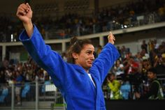 Majlinda Kelmendi let her emotions show after winning her country's first-ever medal, competing in 52-kg judo.