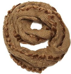 Womens tan camel cable faux fur snood from Dorothy Perkins - £20 at ClothingByColour.com