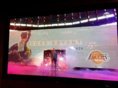 Pic: 18-time @NBAAllStar #KobeBryant pre-game @NBAAllStar Game intro on @NBAonTNT. #nbaallstarto