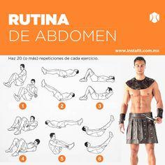 ¿Te vas a disfrazar de gladiador en #Halloween? Haz esta rutina de abdomen para marcar los cuadritos.