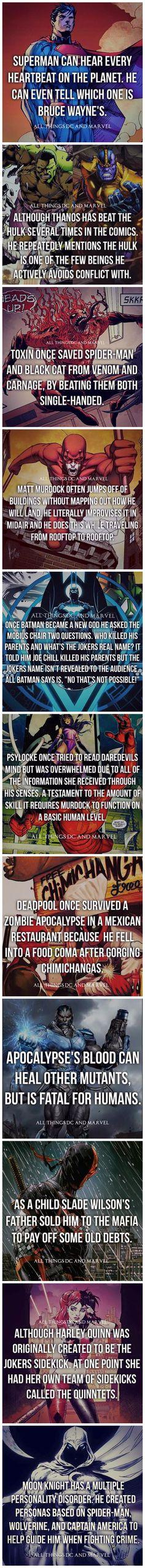 Superhero Facts: Part 1
