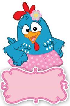 Venha comemorar comigo e com a turma da galinha pintadinha o meu 1 aniversário Remember Day, Baby Shawer, Cute Cartoon Animals, Christmas Frames, Coq, Paper Toys, Candy Colors, 1st Birthday Parties, Emoji