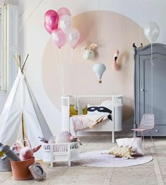 45 Enchanting Kids Room Design Ideas That Will… Creative Kids Rooms, Cool Kids Rooms, Kids Room Paint, Teen Bedroom Designs, Girls Bedroom, White Bedroom, Jugendschlafzimmer Designs, Design Ideas, Happy Room
