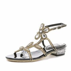 >> Click to Buy << Summer New Women Sandals Rhinestone Flats Sample Sweet Leisure Shoes Ladies Luxury Fashion Sexy Sandal Footwear Plus Size 33-44 #Affiliate