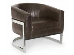 Finish: polished stainless steel only. Also available in fabric. Order as b2202. Large Furniture, Furniture Design, Funky Furniture, Bernhardt Furniture, Furniture Showroom, Accent Chairs For Living Room, Barrel Chair, Chair And Ottoman, Upholstered Chairs
