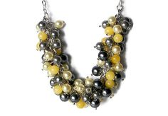 Bridesmaid Jewelry Grey and Yellow Pearls by SeagullSmithJewelry, $35.00