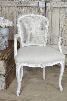 Chaise antique canne fran§aise par FullBloomCottage sur Etsy