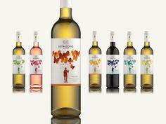 MOTÝLKOVÉ | Dizajn etikiet pre vínnu kolekciu. Klient: Ostrožovič #Slovakia Wine Packaging, Packaging Design, Wine Tourism, Wine Labels, Wine Making, Portfolio, Wines, Liquor, Bottle