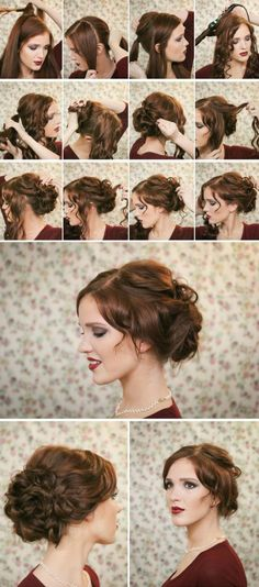 festliche Hochsteckfrisuren Haare Frauen