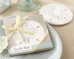 Sand Dollar Coaster Thank You Favors - Beach Favors