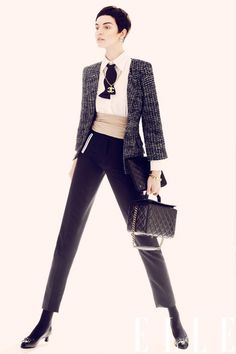 The Chanel Jacket  Six Ways | Tweed jacket | menswear | elle