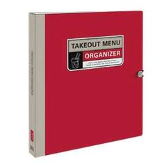 Take-Out Menu Organizers - You're sitting at home, everyone is hungry, and you decide that it's time to order some take-out for delivery. Unfortunately, the take-o...