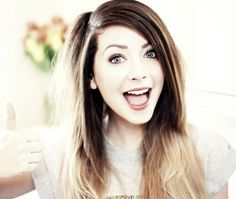 Zoella, on YouTube, go subscribe to her two channels Zoella and More Zoella. She's amazing!