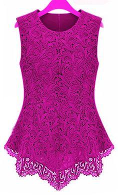 New Ladies Women Lace Blouse Sleeveless Shirt Doll Chiffon Tops XS M L XL 5XL   eBay