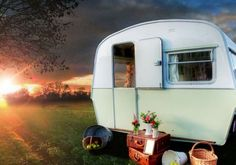 . I want one of these so bad! This is how I want to spend my summers from now on! Take a little adventure every summer in my tiny camper! 2 months of me time anywhere I want to be!