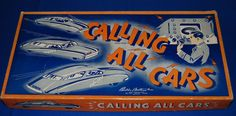 Parker Brother Calling All Cars board game, ca. - This game was manufactured in conjunction with the radio program of the same name, which aired from on CBS. Police Radio, All Cars, Board Games, Pop Culture, Names, Tabletop Games, Table Games