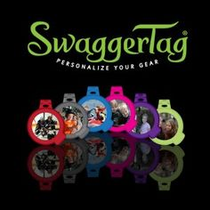 A SwaggerTag is an identification tag that reflects your personality and helps you keep track of your gear. http://swaggertag.com/  By customizing SwaggerTag with your own photo, image or logo, you can let everyone know it's your stuff. You decide what personal information to include and your SwaggerTag reveals the information only if it is opened. www.DebBixler.com