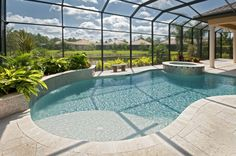 Picture Gallery | Florida Pool Service Landscape area on the left