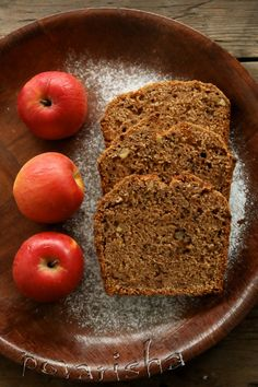 Яблочный постный кекс