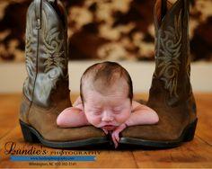 Newborn Photography Baby Cowboy Boots