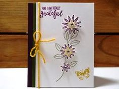 2016 Peanuts and Peppers Papercrafting: Try It Thursday - New Stampin' Up! Grateful Bunch Gratitude Card