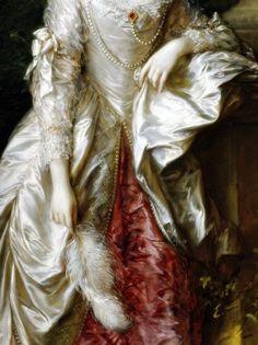 L'honorable Mrs Graham (détail) ~ Thomas Gainsborough 1775