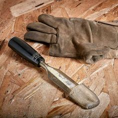 Don't throw out your old work gloves. Cut the fingers off and you'll find lots of uses for them. Use them to protect the tips of chisels when you need to carry them. They're also good for softening the grip of pliers and many other applications.