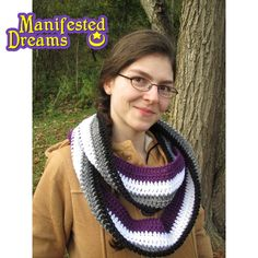 Asexual Pride Scarf Crochet Infinity by ManifestedDreams on Etsy https://www.etsy.com/listing/206901015/asexual-pride-scarf-crochet-infinity. #ace #genderqueer #asexual #non-binary
