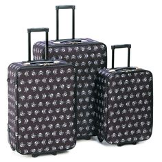 Luggage Set Skulls Gothic 3 Suitcases Travel Bag Garment Carry On Wheels Handle #HomeLocomotion
