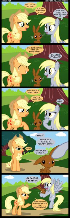 My Little Pony Apple Jack and Derpy