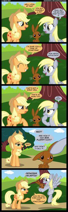 My Little Pony Applejack and Derpy Mlp Comics, Funny Comics, Mlp Memes, My Little Pony Comic, Little Poney, Mlp Pony, My Little Pony Friendship, Fluttershy, Rainbow Dash
