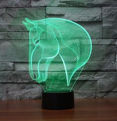 The Horse 3D LED lamp creates an optical illusion that tricks the eyes. Light up your lives with Lampeez. Get yours today!