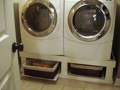 Crazy Wonderful: Washer/Dryer Stand Installed