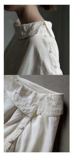 Joie de Vivre Flanders Linen Dress - use idea for shirt sleeve opening Fashion Details, Fashion Design, Fashion Tips, Fashion Trends, Linen Dresses, Couture Fashion, Gothic Fashion, Refashion, Dress Patterns