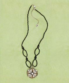Another great find on #zulily! Agate & Swarovski Crystal Fancy Flower Pendant Necklace #zulilyfinds