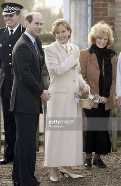 The Earl And Countess Of Wessex [ Prince Edward And Sophie Wessex ] Visiting The Phoenix Montessori Nursery School Which Was Recently Refurbished. Looking Happy And Relaxed On The First Official Public Engagement By The Countess Since She Lost Her Unborn Babyhaving Suffered An Ectopic Pregnancy