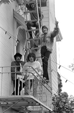 Rolling Stone's first photographer, Baron Wolman, shot this photo of Pink Floyd at the Casa Madrona Hotel in Sausalito. In town for what was to be two shows at San Francisco's Winterland during Pink Floyd's first trip to the States in Nov 1967. Soon after that trip, early in 1968, they split with Syd Barrett.