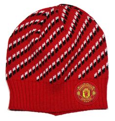 74b914f7a4e Manchester United Woven Winter Hat (Checkered)